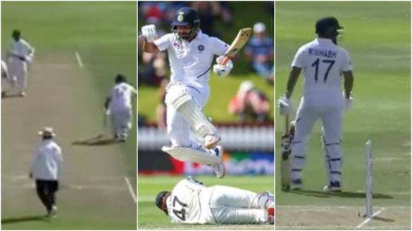 NZ vs IND: पहली पारी में रन आउट होने के बाद अजिंक्य रहाणे पर गुस्सा होते नजर आये ऋषभ पन्त, देखे वीडियो 18