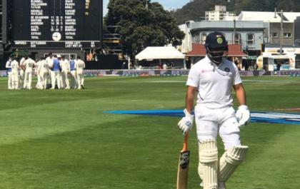 NZ vs IND- वेलिंगटन टेस्ट पहली पारी फैल हुए टीम इंडिया के बल्लेबाज, अब गेंदबाजों पर है दारोमदार 1