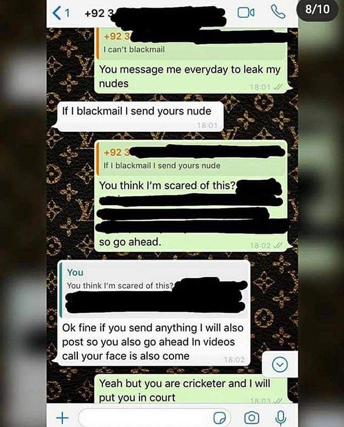 पाकिस्तान के क्रिकेटर शाबाद खान पर दुबई की महिला ने फोटो जारी कर लगाए संगीन आरोप, देखे चैट का स्क्रीन शॉट्स 2