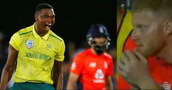 लुंगी नगीडी ने इंग्लैंड के खिलाफ आखिरी ओवर में 7 रन बचाए, देखें वीडियो 2